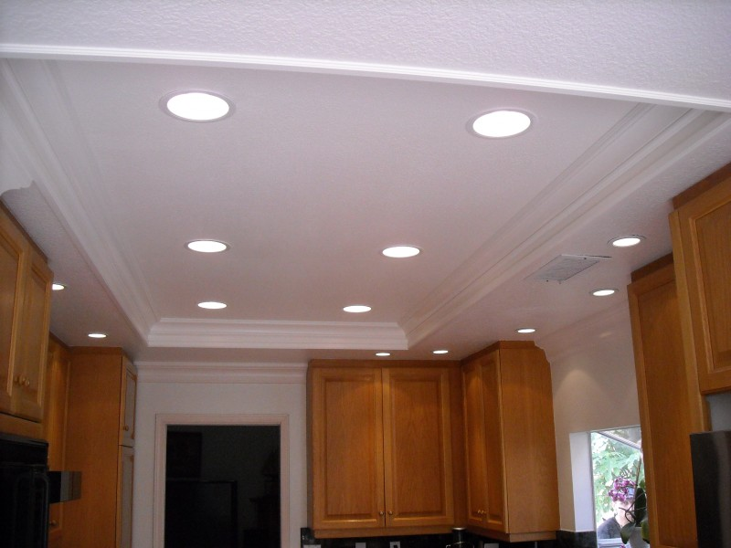 Replaced florescents with can lighting in kitchen laguna niguel