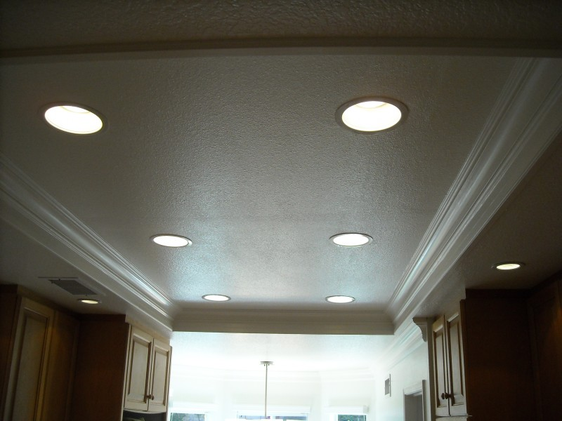 Recessed Can lighting job in laguna niguel, conveted from florescent to 6 in recessed can lights