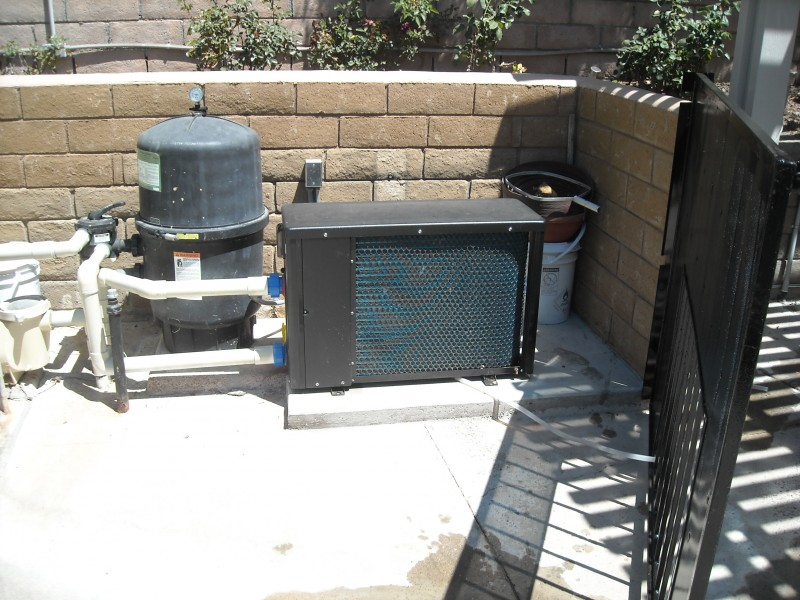 Spa heat pump installed in Mission Viejo for pool