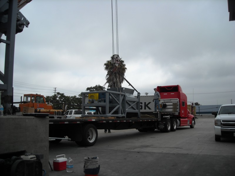 Truck Picking Up Equipment to be installed in Wilmington CA