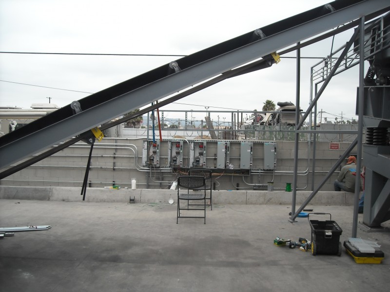 Conveyer Belt and main switches for equipment installation Wilmington